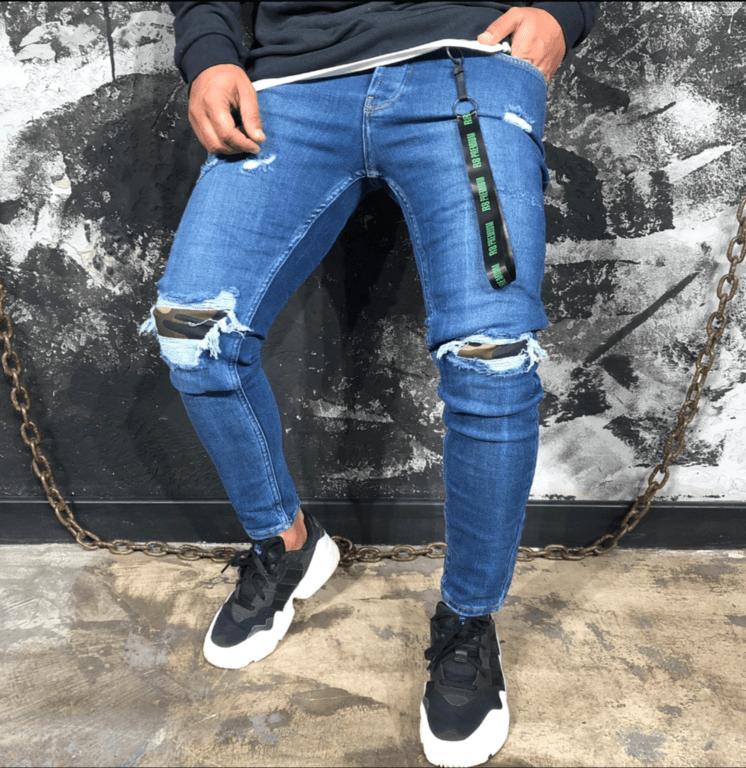 jean regular bleu homme