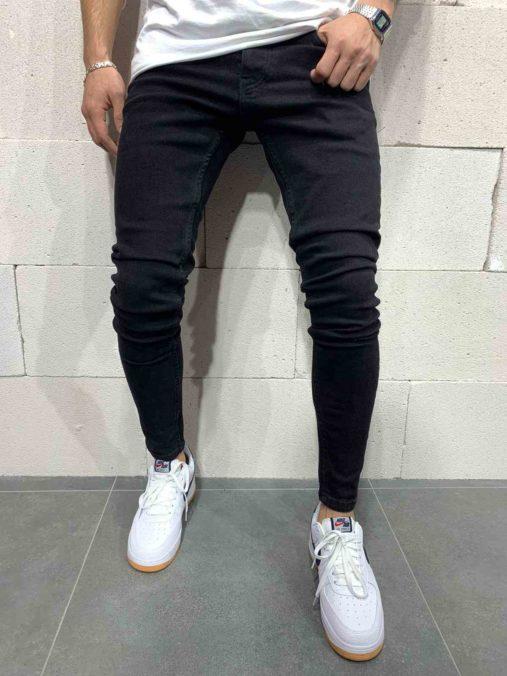 jean skinny noir homme