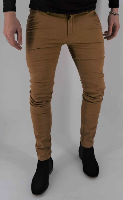 pantalon Chino camel homme