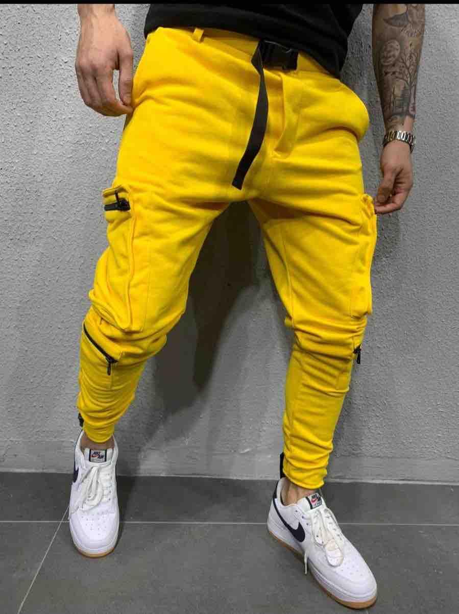 jogger pants jaune homme