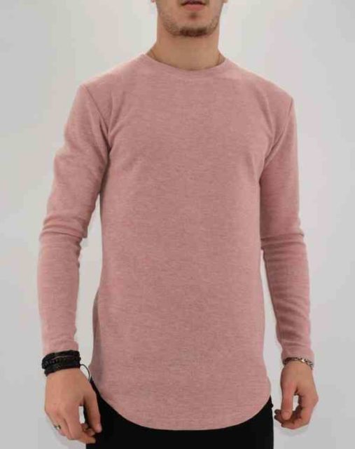 PULL OVERSIZE ROSE HOMME