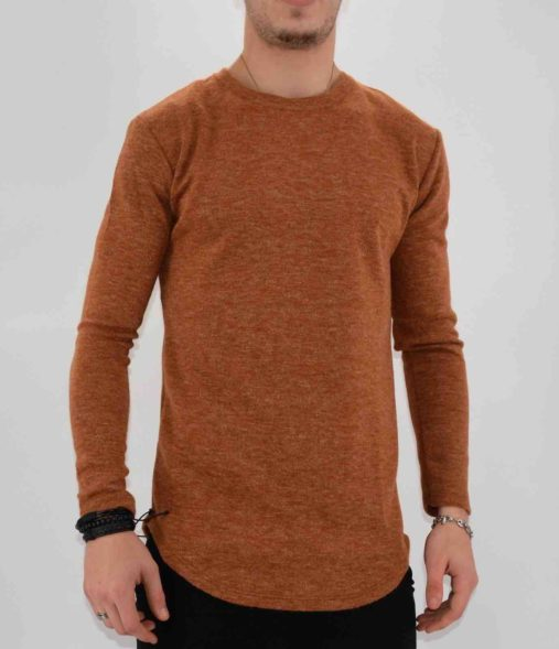 PULL OVERSIZE CAMEL HOMME