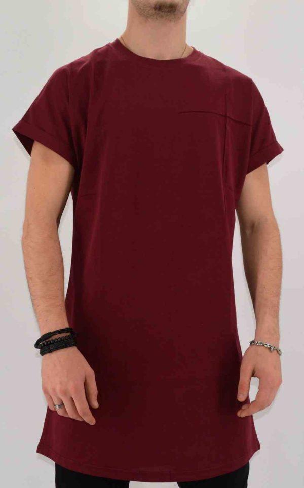 T-shirt oversize homme - Bordeaux - Mode urbaine