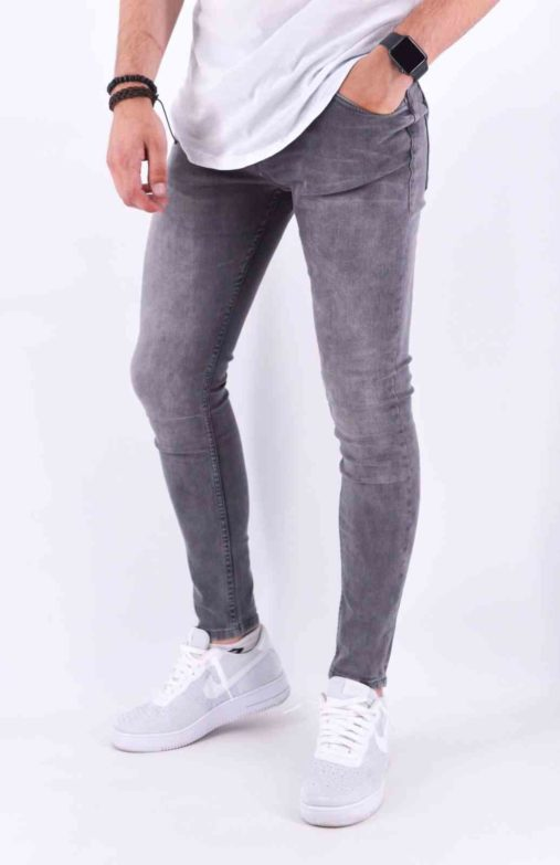 JEAN SKINNY HOMME Gris - Mode Urbaine