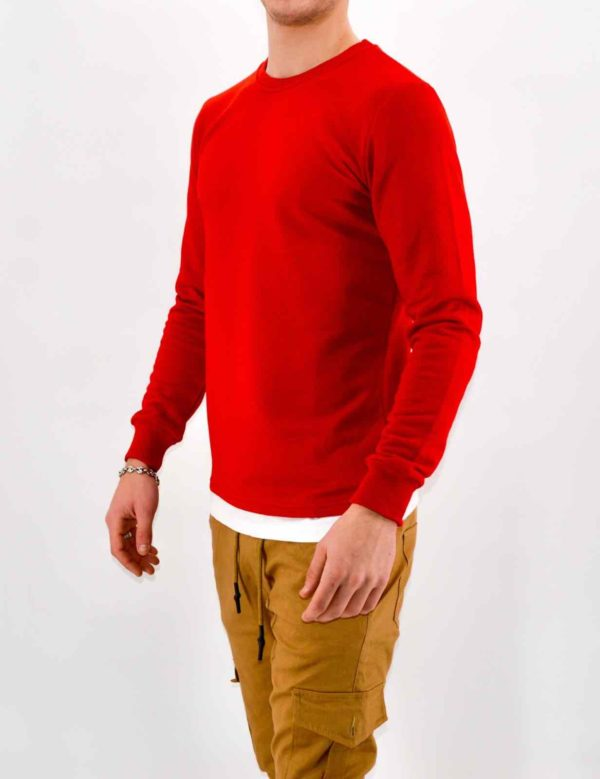 PULL HOMME - SWEAT ROUGE HOMME
