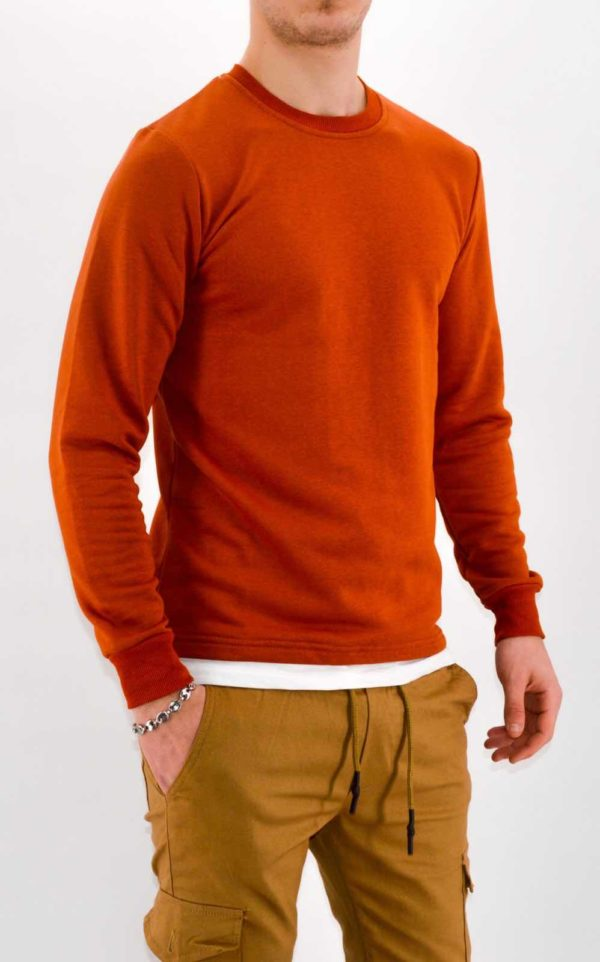 PULL HOMME - SWEAT ROUILLE HOMME