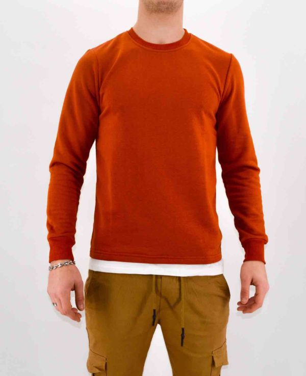 Pull homme - sweat rouille homme - Mode urbaine