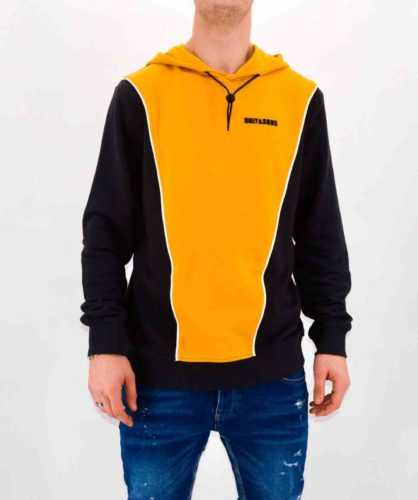 SWEAT A CAPUCHE JAUNE HOMME - ONLY & SONS