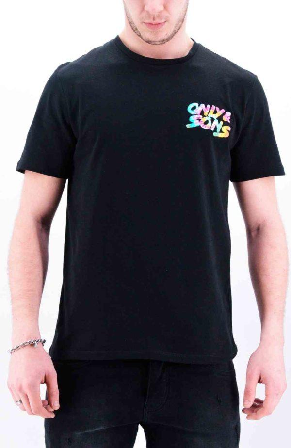 OnsBatik noir tee shirt only&sons