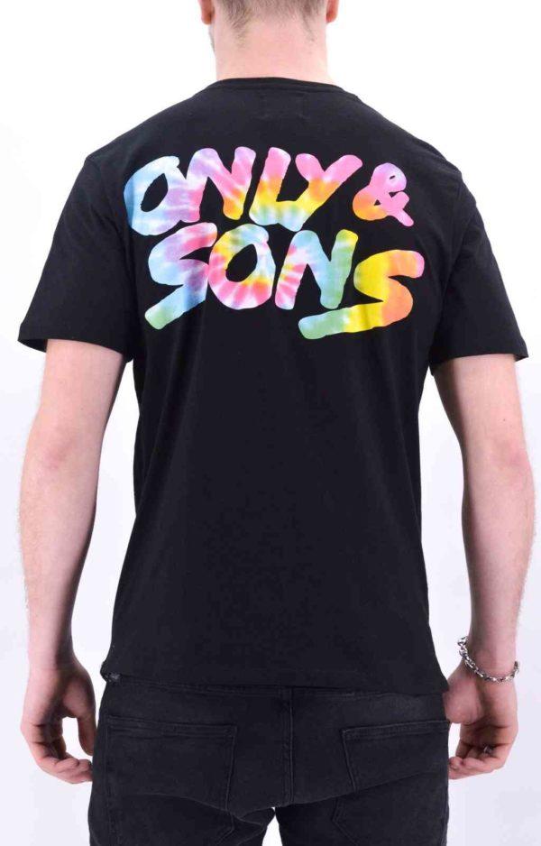 tee shirt only&sons OnsBatik noir