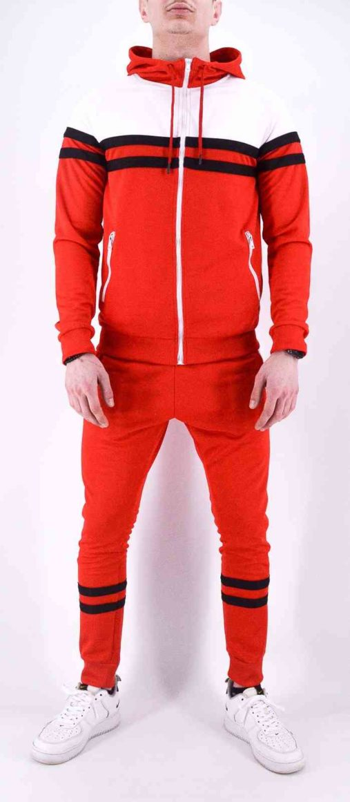 ENSEMBLE DE SURVETEMENT ROUGE HOMME