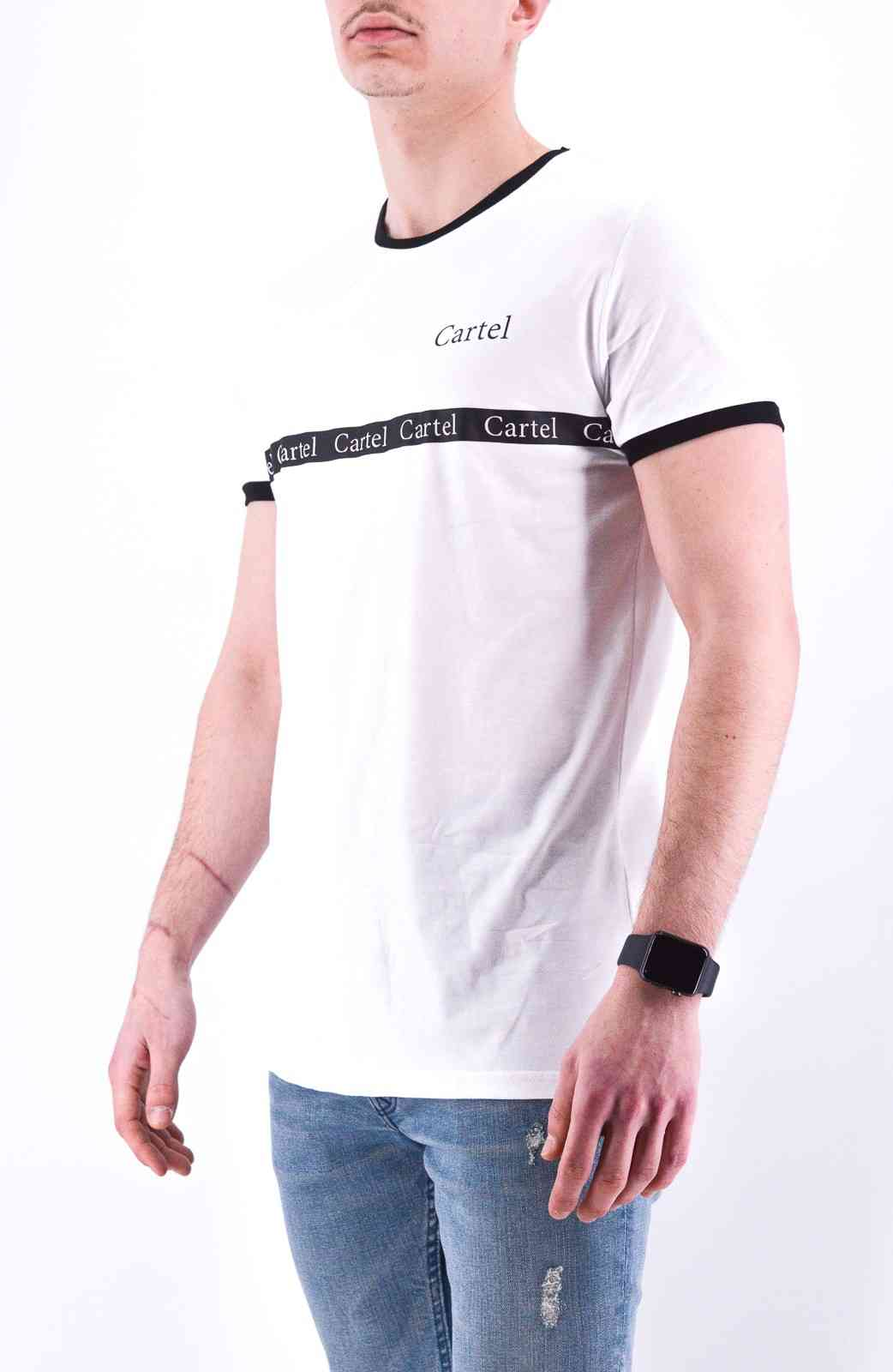 TEE SHIRT BLANC CARTEL
