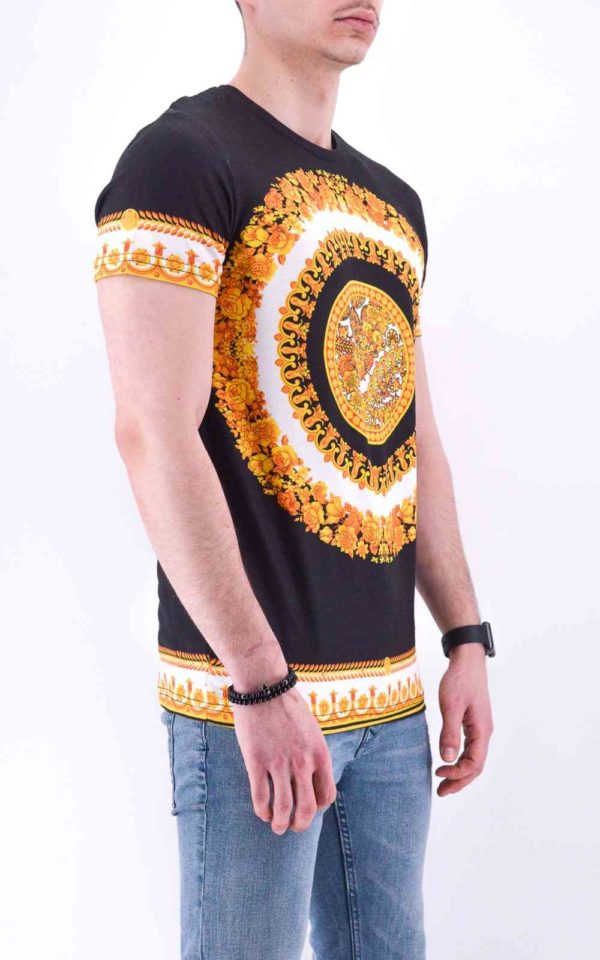 TEE SHIRT NOIR STYLE BAROQUE HOMME - MODE URBAINETEE SHIRT NOIR STYLE BAROQUE HOMME - MODE URBAINE