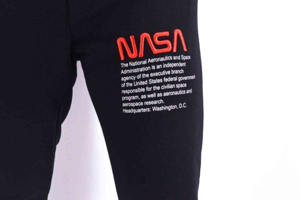 JOGGER PANTS NOIR NASA - SWEATPANTS NOIR NASA