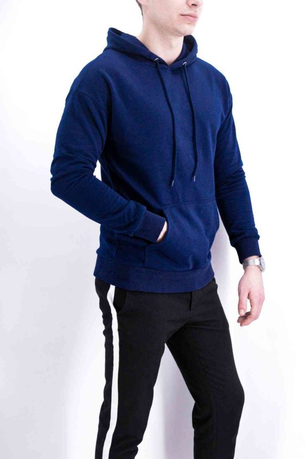 SWEAT A CAPUCHE NAVY - MODE URBAINE