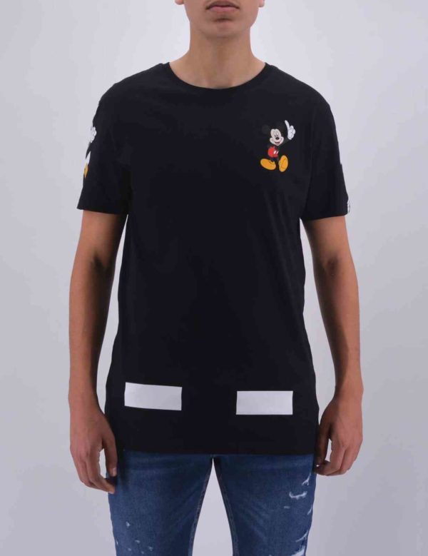 TSHIRT OVERSIZE MICKEY NOIR HOMME