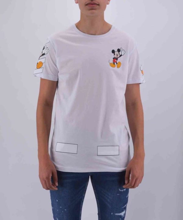T SHIRT MICKEY BLANC HOMME
