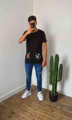 t shirt mickey oversize noir