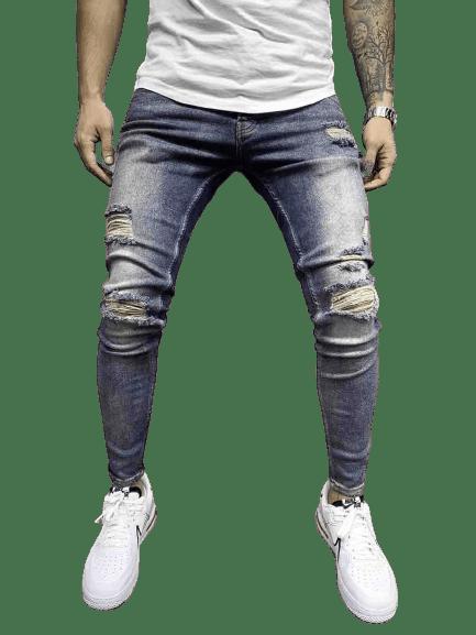 jean slim skinny destroy