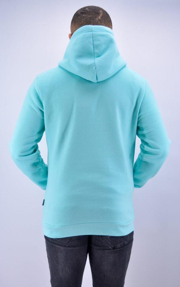 sweat à capuche turquoise - Mode urbaine