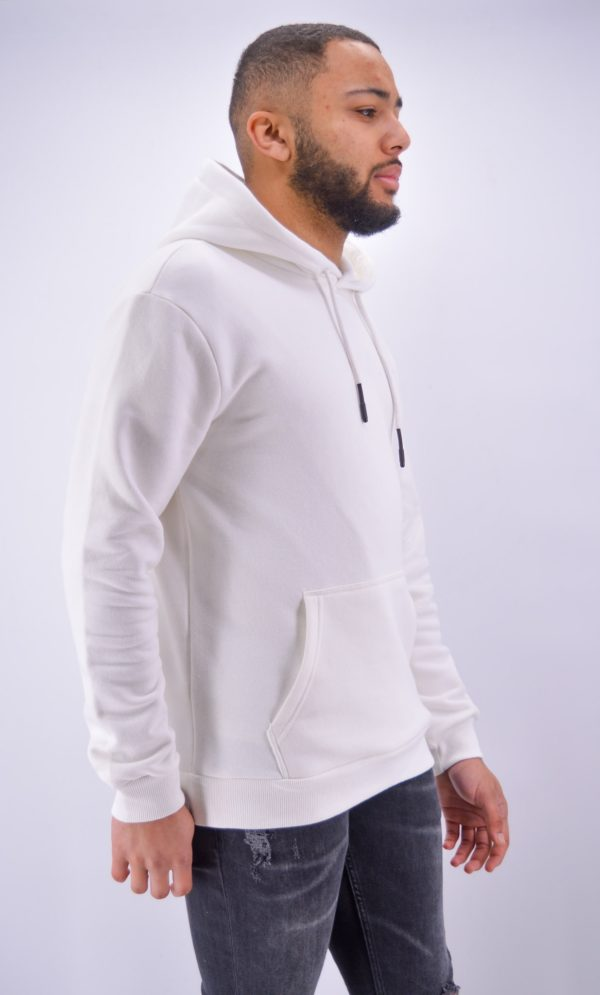 sweat à capuche blanc - Mode urbaine
