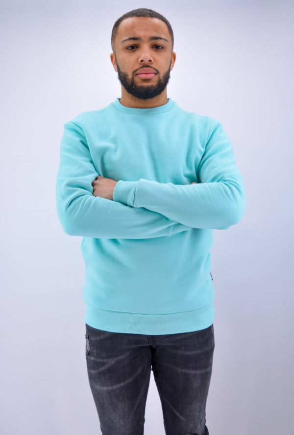 Pull homme - sweat turquoise homme - Mode urbaine